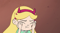 S2E9 Star Butterfly wipes mud off her cheeks