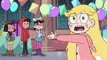 S3E25 Star pointing at Janna, Marco, and StarFan13
