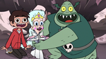 S3E7 Marco, Moon, and Buff Frog happy to see Star