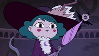 S4E4 Eclipsa looking down at Rhombulus