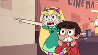 S2E14 Star Butterfly and Marco Diaz freaked out