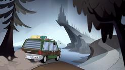 S1E6 Minivan drives toward Isolation Point