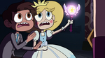 S3E24 Star and Marco looking up at Mina