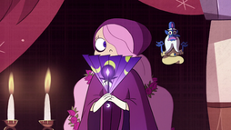 S2E23 Celena the Shy and Glossaryck in tapestry