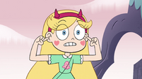 S4E19 Star Butterfly pointing at her face