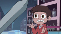 S3E15 Marco Diaz looking at Sir Stabby's sword