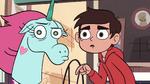S2E24 Marco and Pony Head look toward the door