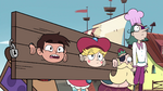 S4E2 Star, Marco, River, and Pie King shocked