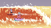 S4E6 Tom and Star surfing together