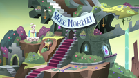S4E10 Monster Temple with welcome banner