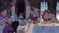 S3E16 Star, Marco, and Pony Head in the dining hall
