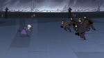 S3E33 Meteora and guards charge toward each other