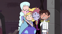 S4E24 Star, Moon, Tom, and Marco in group hug