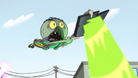 S2E14 Ludo flying helplessly through the air