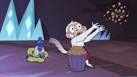 S4E4 Glossaryck laughs; monkey tosses popcorn