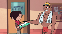 S2E3 Oskar and swim team member fist-bump