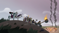 S3E36 Moon calming the angry mob down