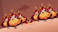 S4E24 Hekapoo in middle drops through portal