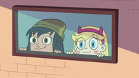 S2E16 Star Butterfly and Janna looking outside