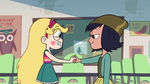 S2E16 Star Butterfly shaking Janna's fist again