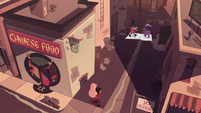 S1E16 Star and Marco enter restaurant alley