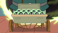 S2E11 Buff Frog's tadpoles in a baby carriage