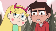 S4E1 Star and Marco looking back at River