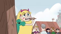 S2E29 Star Butterfly chewing on tree bark