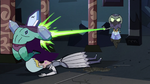 S2E41 Ludo-Toffee blasts Rhombulus in the back