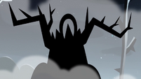S3E27 Shadowy figure with antlers approaching