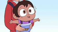 S4E26 Mariposa in Marco's baby carrier