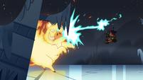 S4E5 Brunzetta blasts demon with lightning