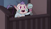 S4E17 Meteora Butterfly in her baby crib