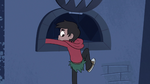S3E6 Marco Diaz climbing out of the castle vents