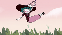 S4E23 Eclipsa floating over the treetops