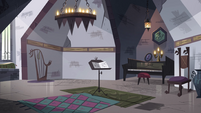 S4E24 Monster Temple music room