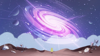 S2E32 Galaxy glowing in front of Star Butterfly