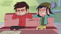 S3E23 Marco and Janna covering their ears