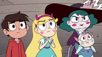 S4E35 Marco, Star, Eclipsa, and Meteora look at Mina