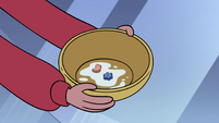 S4E13 Star's cereal bowl in Marco's hands
