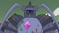 S4E34 Mina Loveberry appears in Solarian Armor