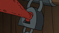 S2E20 Buff Frog picking the lock with his tongue