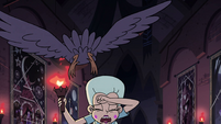 S4E15 Crow flying over Moon Butterfly's head