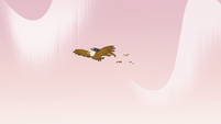 S3E7 Eagles flying toward Butterfly Castle