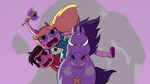 S2E28 Star and Marco riding on a warnicorn