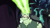 S3E38 Meteora furiously firing her soul beams