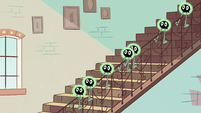 S2E11 Buff Frog's tadpoles slide down the stair rail