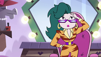S4E9 Eclipsa touching her new hairstyle