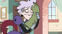 S2E36 Miss Heinous hugging Rasticore's arm