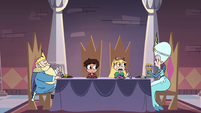 S3E18 Star, Marco, Moon, and River at breakfast